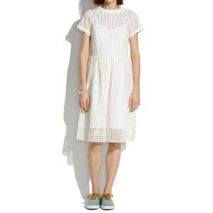 Madewell Eyelet Hideaway Midi Dress 0